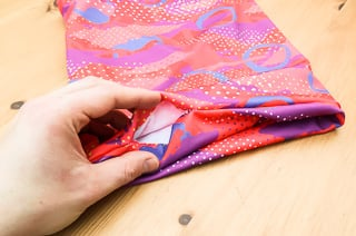 Seal the hole with a final topstitch