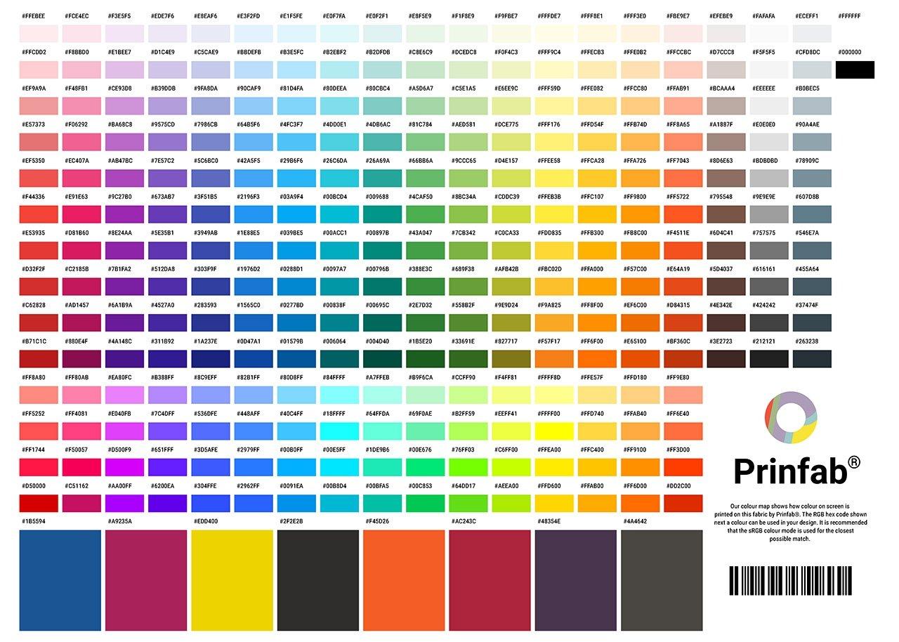 Prinfab® Colour Chart