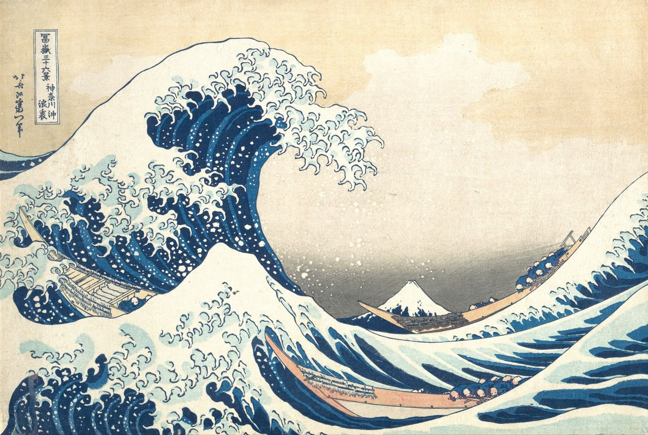 Original Image - The Great Wave off Kanagawa by Hokusai