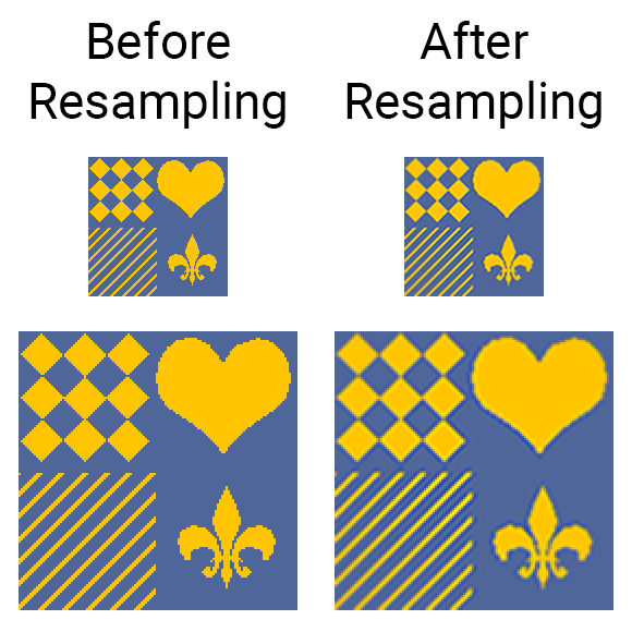 Effects of resampling an image by a very small amount example 2